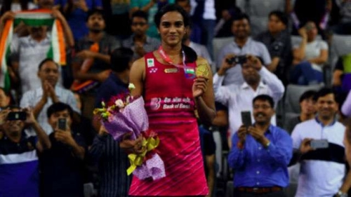 P V Sindhu won the Korean Open Super series, beating the world champion Nozomi Okuhara