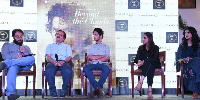 "Ishaan Khatter, Malavika Mohanan along with director Majid Majidi promoted ""Beyond the Clouds"" in Delhi"