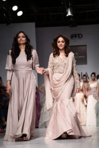 Bollywood actress Nushrat Bharucha Graced the Ramp for Designer Kavita Aggarwal