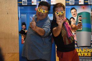 Vinay Pathak & Manoj Pahwa witnessed in Delhi for promotions of upcoming comedy flick 'Khajoor Pe Atke'