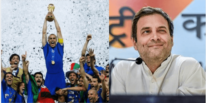 If Italy win the FIFA world cup in 2018, Rahul Gandhi will become the PM in 2019