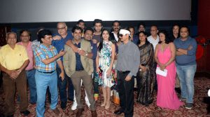 "The cast of ""When Obama loved Osama"" witnessed in Delhi for the special screening!"