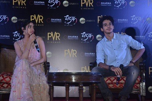Dhadak cast Janhvi Kapoor and Ishaan Khatter witnessed in Delhi for the promotions.