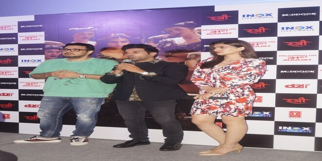 Rajkummar Rao & Kriti Sanon launched the latest song of Stree- 'Aao Kabhi Havelli Pe' in Delhi!