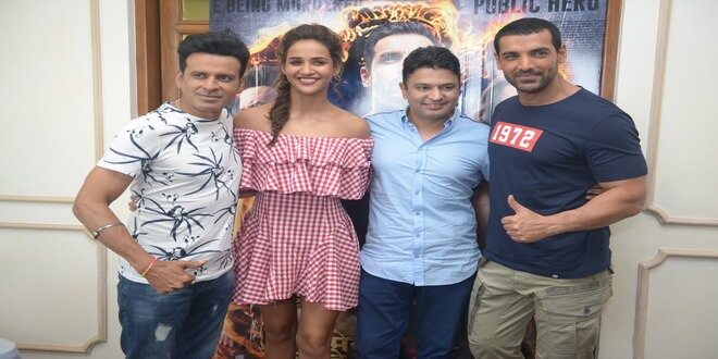 Satyameva Jayate cast witnessed in New Delhi for promotions!