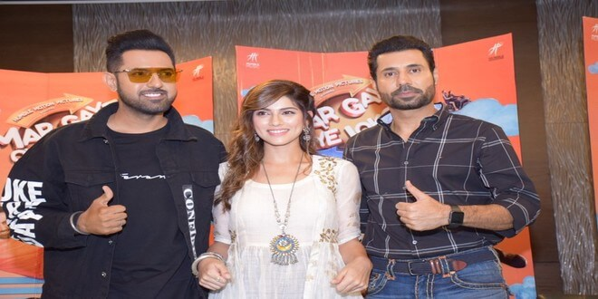 Gippy Grewal & cast witnessed in Delhi for promotions of upcoming film 'Mar Gaye Oye Loko'