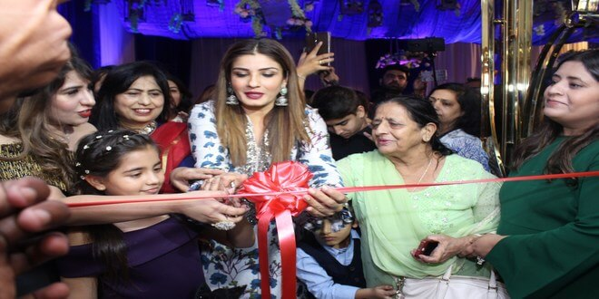 A grand opening of Luxury Salon Blonde & Brunette by Raveena Tandon
