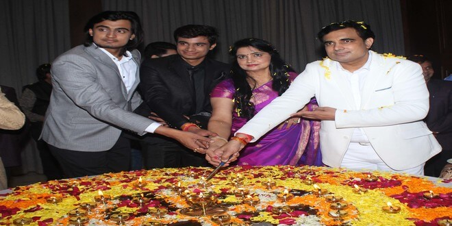 Rajpal Yadav, Pankaj Berry, Kishan Kumar and others celebs came for Pandit Pawan Kaushik birthday at J W Marriot,Juhu.