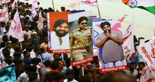 MEGA-STAR TURNED MEGA-LEADER  SOUTH SUPERSTAR PAWAN KALYAN'S POLITICAL RALLY  RECEIVES AN UNPRECEDENTED RESPONSE