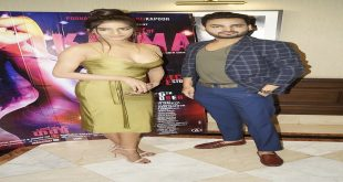 Poonam Pandey in Delhi for promotions of her erotic thriller 'The Journey of Karma'
