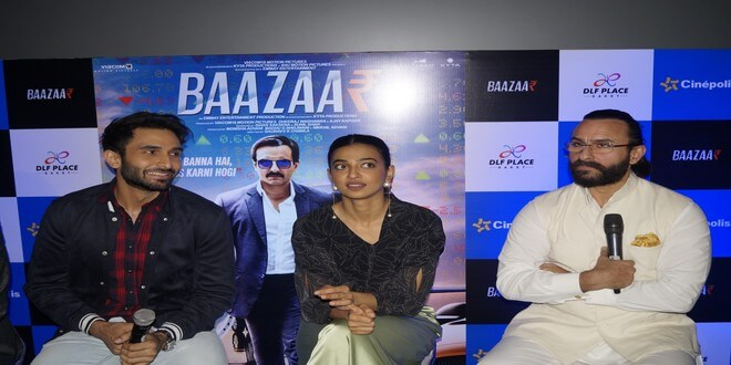 Saif Ali Khan, Radhika Apte, along with Baazaar cast promoting their movie in Delhi