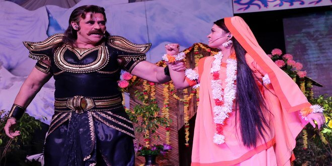 The LuvKush Ramleela reenact the scene of Sita Haran from the Hindu epic, the Ramayana at fifth day!