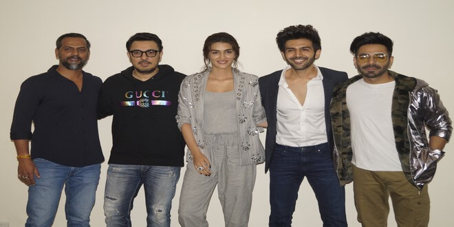 Kartik Aryan and Kriti Sanon promoted their upcoming movie Luka Chuppi In New Delhi