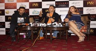 "Akshay Kumar and Parineeti Chopra witnessed promoting their upcoming movie ""Kesari "" in National Capital"