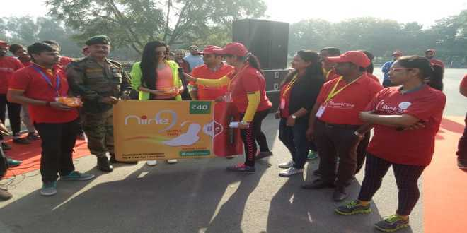 Padman Akshay Kumar Supports India's Largest Run, RUN4NIINE held today in Gurgaon