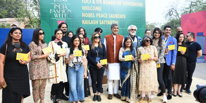 FDCI DESIGNERS PLEDGE AGAINST CHILD LABOUR WITH NOBEL PEACE LAUREATE KAILASH SATYARTHI