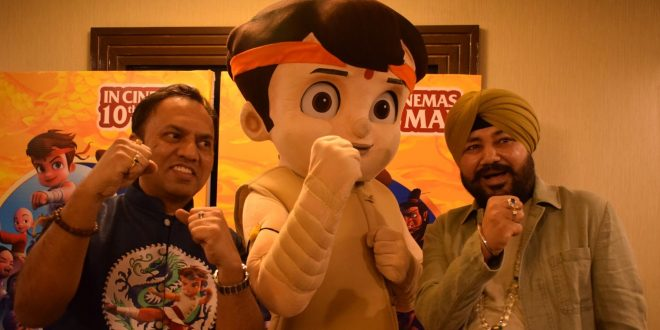 """""""Chhota Bheem Kung Fu Dhamaka"""" Team and Singer Daler Mehndi Came to promote the movie in National Capital"""