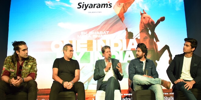 "Siyaram's launches an Anthem4Good ""One India My India"" in National Capital with Cricket Legend Kapil Dev and the Team of the Song"
