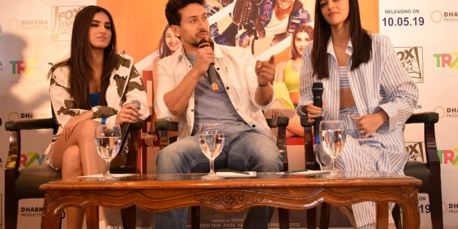 "Tiger Shroff, Ananya Panday, and Tara Sutaria witnessed promoting ""Student Of The Year 2"" in National Capital"