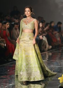 Actor Malaika Arora presenting Collection By Designer Sulakshana Monga at FDCI India Couture Week 2019