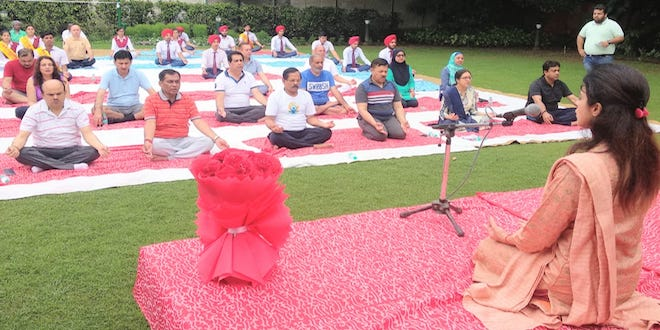 Yoga is helpful for Mental Health, organised by Ministry of Ayush and Manasvani