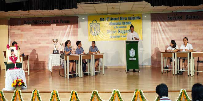 DPS RK Puram hosted 18th Dhruv Rajgarhia Memorial Inter-School English Debate Competition