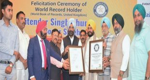 Donor Singh Jitender Singh Shunty to be conferred with World Record