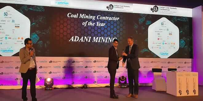Adani Group recognised as the best coal service provider at Mjunction awards