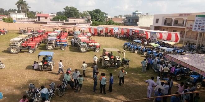 Swaraj organised Mega Service Camp in Western Uttar Pradesh at 57 workshops, Over 17,000 farmers visited these camps