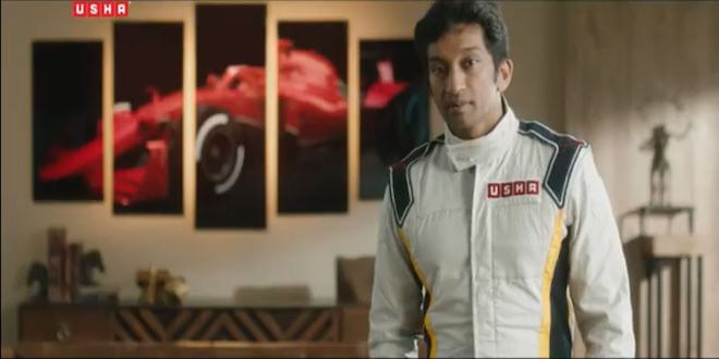 "Usha International launches its ""Live like a Racer"" TVC featuring Narain Karthikeyan"