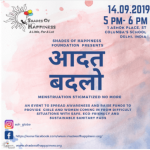 "Shades of Happiness Foundation organised ""Aadat Badlo"", an event to bust myths about menstruation"