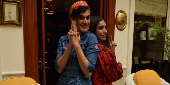 Bhumi Pednekar and Tapsee Pannu Witnessed Promoting their upcoming Movie Saand Ki Aankh in National Capital