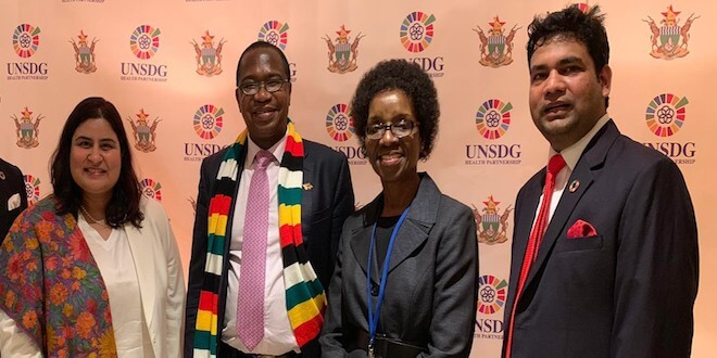 President Of Zimbabwe HE Dr Emmerson Mnangagwa signed an MOU with the UNSDG Health Partnership to launch 100 Primary Healthcare Clinics and Marketplace for affordable medicines during UN General Assembly 2019 in New York.