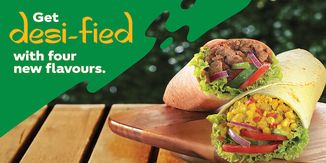 SUBWAY® ADDS FOUR NEW FLAVOURS TO LOADED SIGNATURE WRAPS AS SEASONAL OFFER