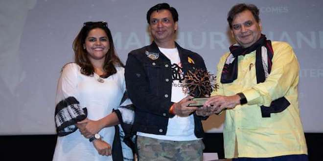 """My biggest teacher is life and I got the best out of it"", shared Mr. Madhur Bhandarkar during the 5th Veda session at Whistling Woods International"
