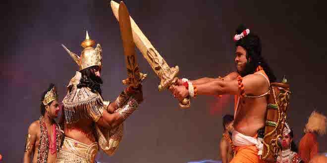 Viewers thrilled to see Kumbhakarna's slaughter on the eighth day at Luv Kush Ramleela
