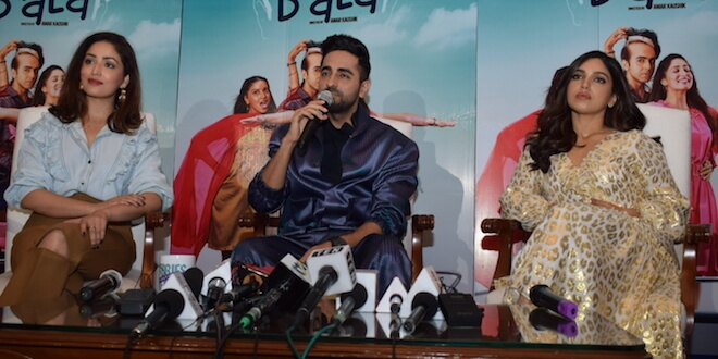 Bala Starcast Witnessed Promoting their movie in National Capital