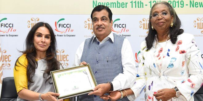 Nitin Gadkari addressed women entrepreneurs from all over the world at 12th IWEC Awards & Conference