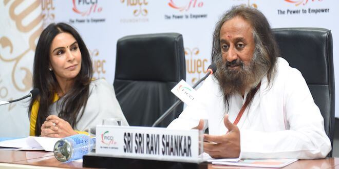 Sri Sri Ravi Shankar delivered key note address at 12th IWEC Awards & Conference