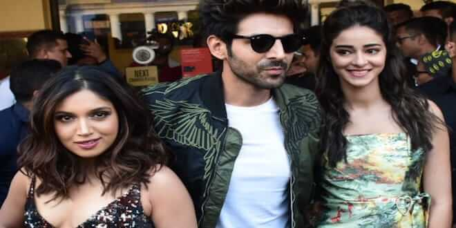Akhiyon Se Goli Maare song launched by Kartik Aryan, Bhumi Pednekar,Ananya Panday and Tulsi Kumar in National Capital
