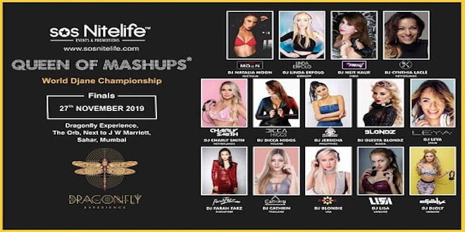 Queen of Mashups World DJane Championship' to be held on 27th November, 2019