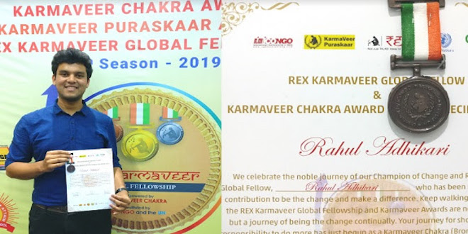 IIT Gold Medalist Awarded Karmaveer Chakra by iCONGO & United Nations