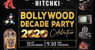 Bollywood Decade party this New Years Eve at Hitchki