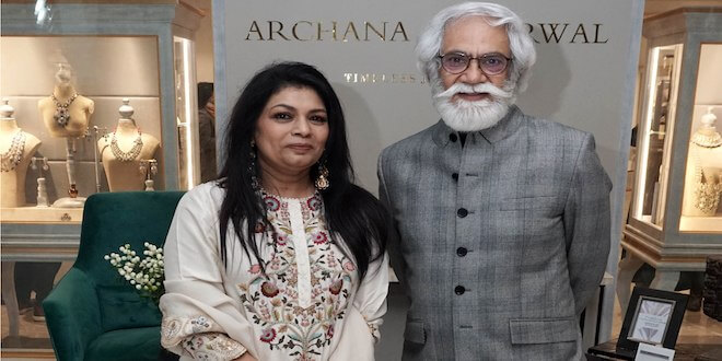 Archana Aggarwal hosted a dazzling evening to celebrate the launch of her flagship Jewellery store
