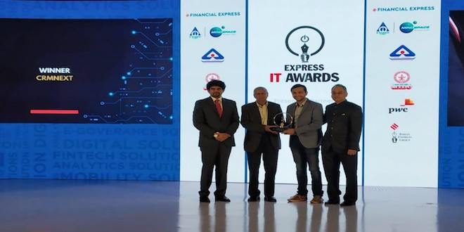 CRMNEXT bags the prestigious 'Digital Solution of The Year' award at Express IT Awards 2019