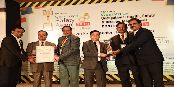 Adani Enterprises Limited-Mining bags top honour at the 18th Annual Greentech Safety Award 2019