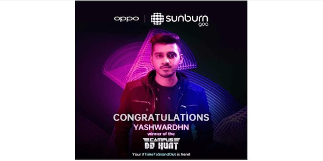 OPPO gives wings to the dreams of budding EDM artist through OPPOxSunburn2019