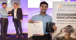 "IIT Gold-Medalist's Innovation Wins the ""Oscars"" of Education in London"