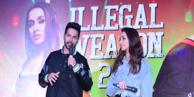 Varun Dhawan and Shraddha Kapoor launched the latest song Illegal Weapon 2.0 from movie Street Danced 3D in Delhi