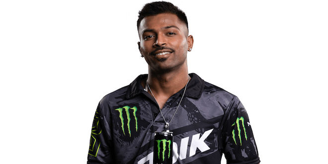 Monster Energy welcomes Indian cricketer Hardik Pandya to the team